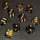 12mm Goldmist Spot Dice - Black